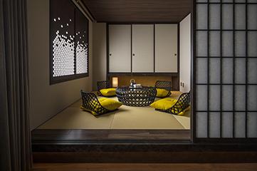 eph KANAZAWA(エフ金沢)のスイートルームの和室の写真